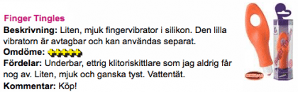 Finger Tingles Recension Aftonbladet