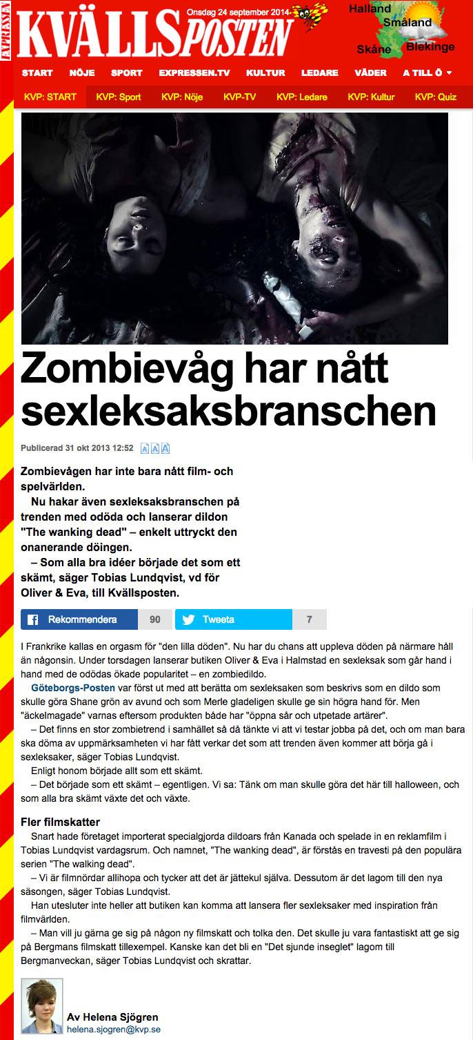Kvällsposten - Zombiedildo