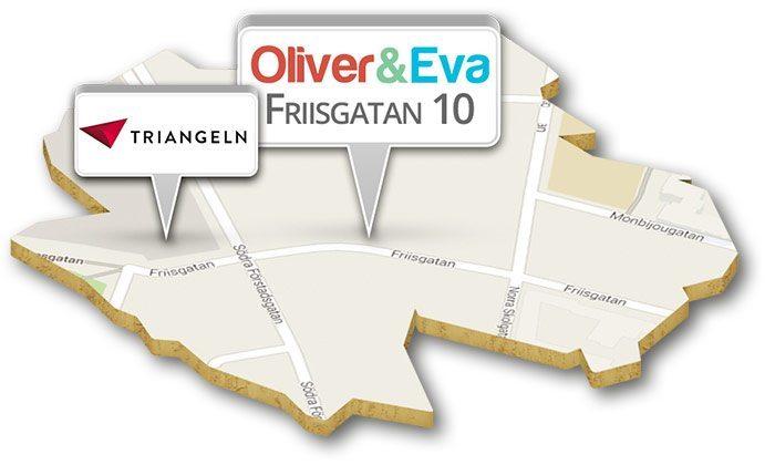 Karta till Oliver & Eva