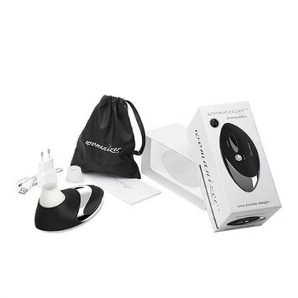 Womanizer W500 Black Chrome forpackning