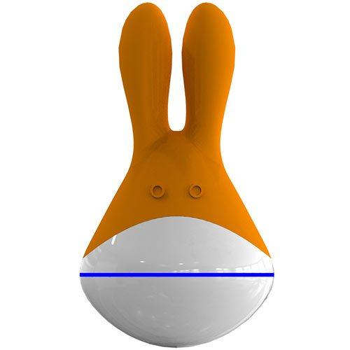 Klitorisvibrator i silikon - orange (Tomteleverans)