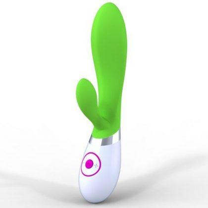 Rabbitvibrator i silikon - grön