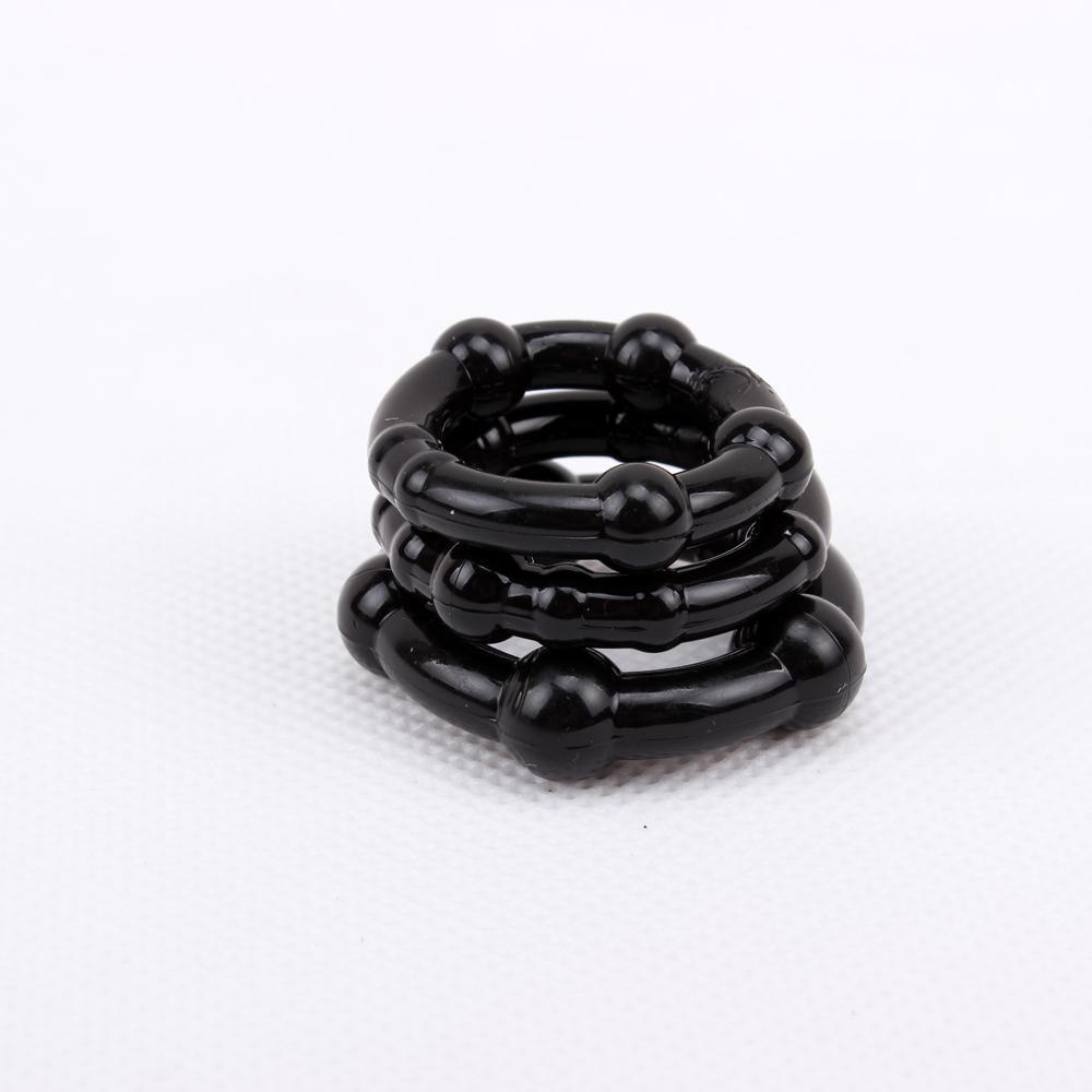 svarta penisringar 3-pack ftalatfria